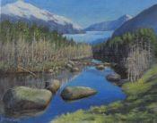 Dead Tree Pond and Mendenhall Glacier